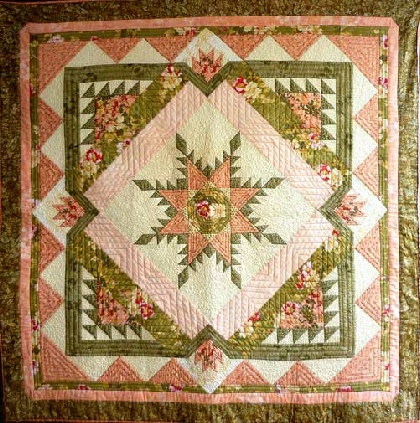 Big Folk Art Feather Quilt